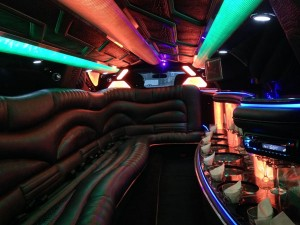 10 Passenger Black Lincoln MKZ Limo Interior 1