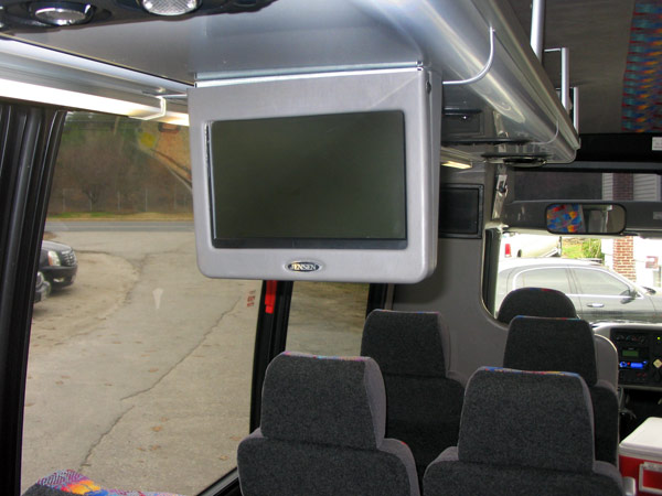 25-32 passenger mini coach interior