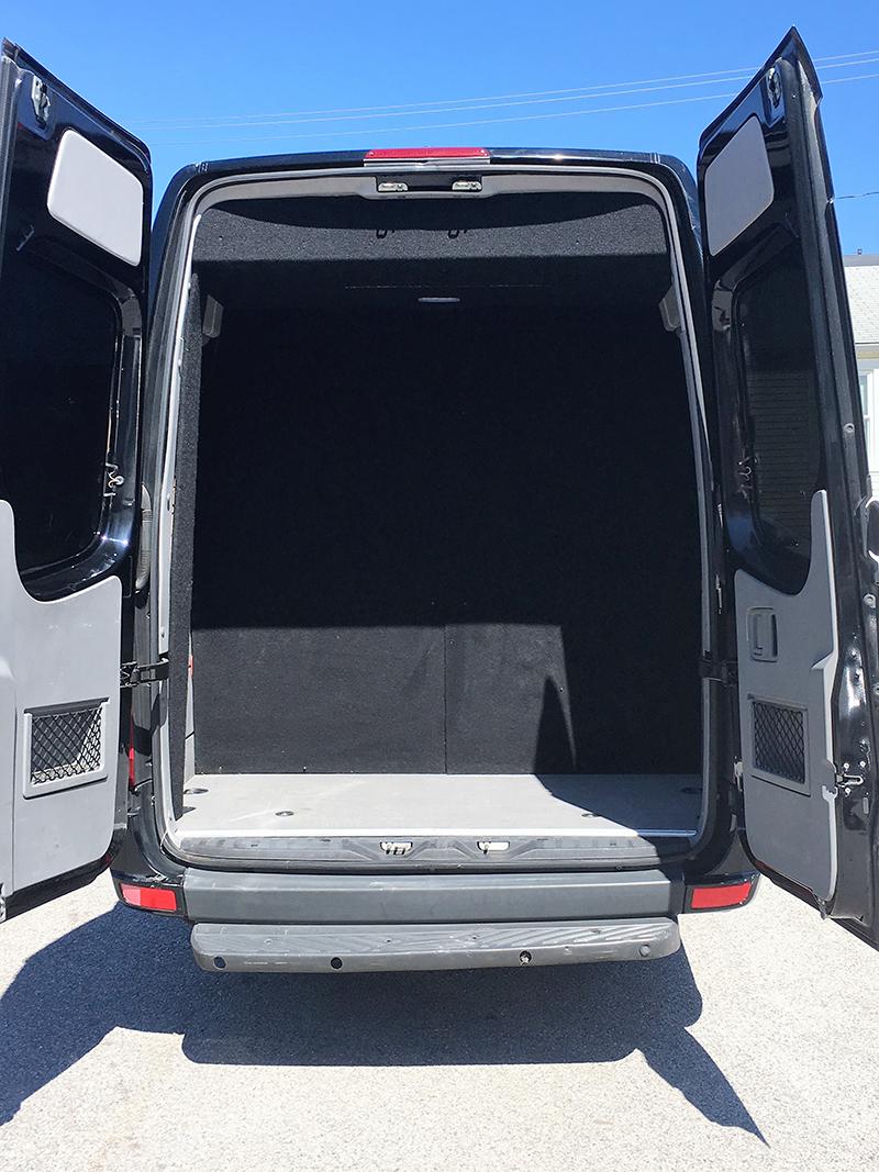14 passenger van interior