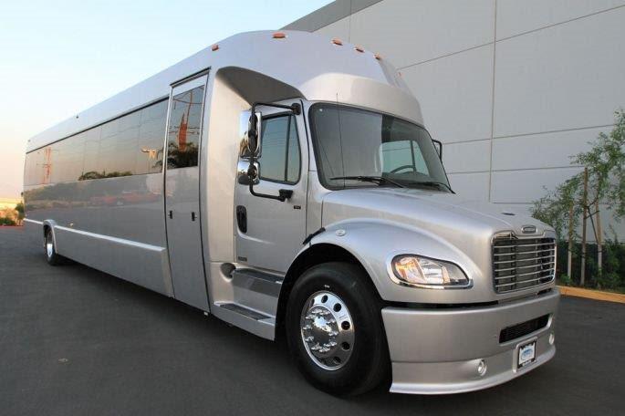 32 passenger limo bus exterior